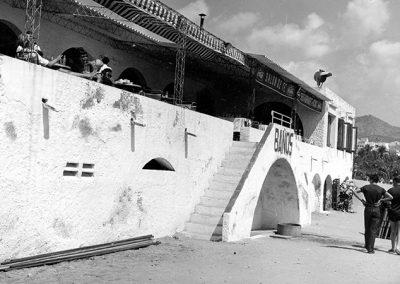 Façana platja Restaurant Pic Nic anys 70