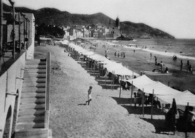 Sitges beach in the 70s